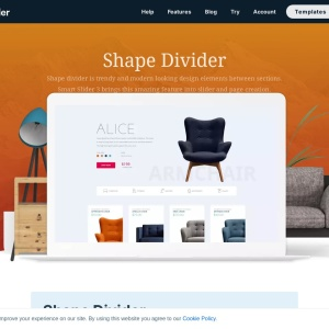 Shape Divider Slider