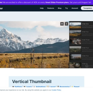 Vertical thumbnail slider with autoplay — Smart Slider 3 — WordPress Plugin