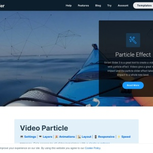 Video Particle — Smart Slider 3 — WordPress Plugin