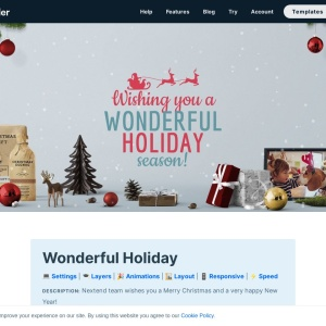 Wonderful Holiday — Smart Slider 3 — WordPress Plugin