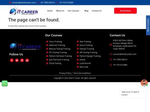 Manual Testing Online Training Institute in Hyderabad | Next IT Career