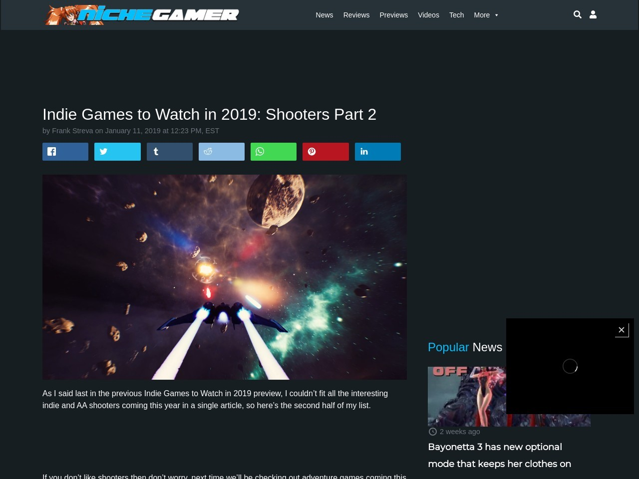 Indie Games to Watch in 2019: Shooters Part 2