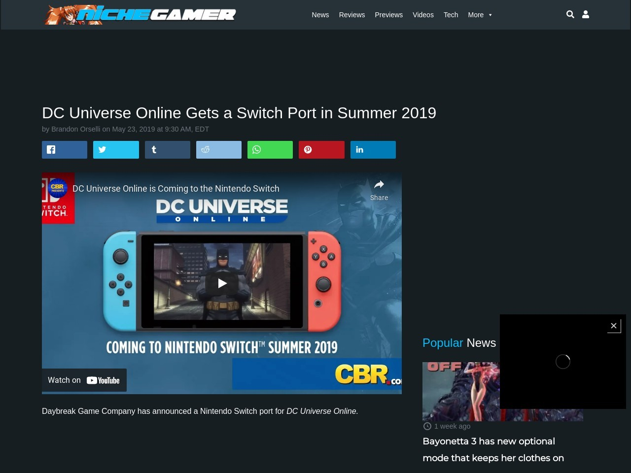 DC Universe Online Gets a Switch Port in Summer 2019