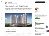 Advantages of Township Living in Mumbai