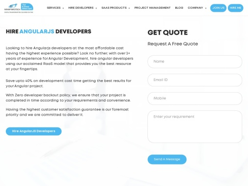 Hire AngularJS Developers India In 1 hour   Hire Angular Developers