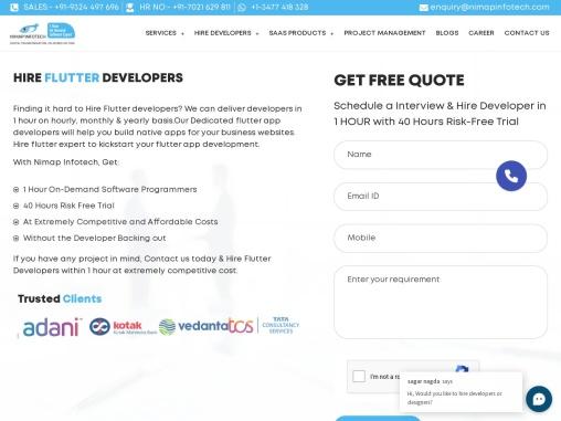 Hire Flutter Developers | Hire Flutter App Developers in Mumbai