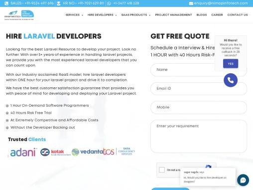 Hire Laravel Developers in 1 hrs | Laravel Developers For Hire