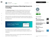 Global project tracker | Blackridge Research & Consulting