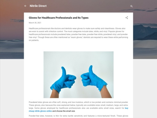 Gloves for Healthcare Professionals and Its Types