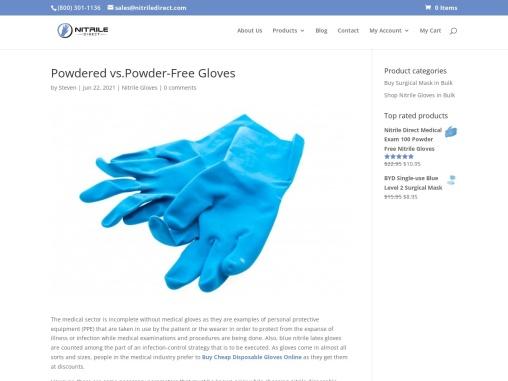 Powdered vs. Powder-Free Gloves