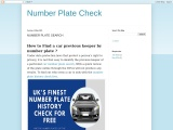 Number Plate History Check Free