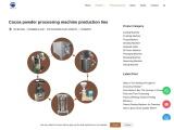 Cocoa powder making machine/Cocoa powder processing line