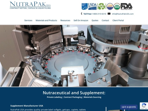 Contract Vitamin Manufacturer In USA | NutraPakUSA