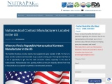 Nutraceutical Contract Manufacturers Located in the US