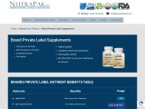 Branded Private Label Supplements | NutraPakUSA