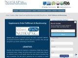 Vitamin Order Fulfillment Solutions | NutraPakUSA