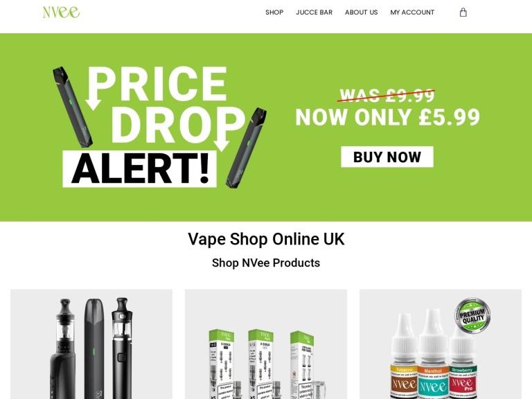 NVee Discount Codes screenshot