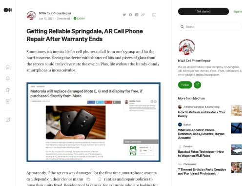 Getting Reliable Springdale, AR Cell Phone Repair After Warranty Ends