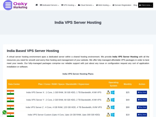 Most Trustworthy India VPS Hosting by Onlive Server