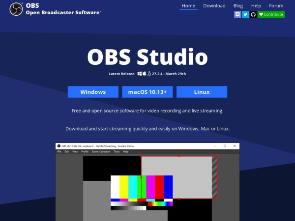OBS Studio  - 10 Best Screen Recorders For Mac 2020