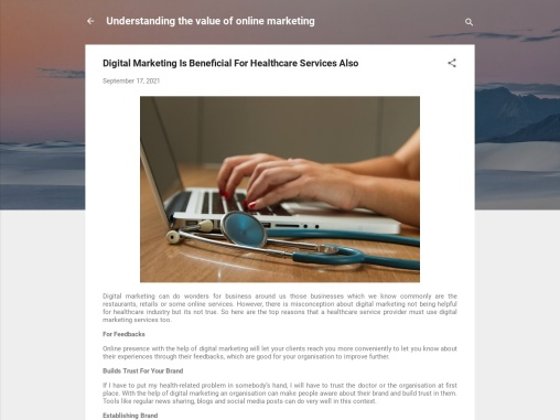 Digital Marketing Is Beneficial For Healthcare Services Also