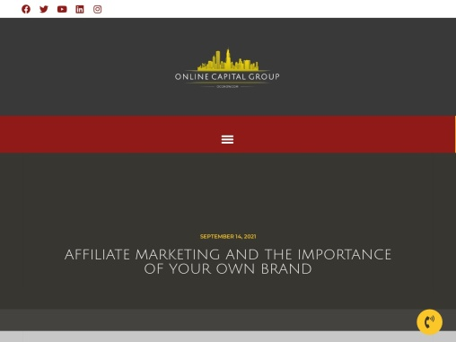 Affiliate marketing and the importance of your own brand