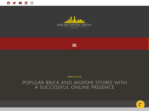 Popular brick and mortar stores with a successful online presence