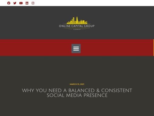 Why you need a balanced consistent social media presence