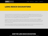 Find Long Reach Excavator Rental Services in PA | OEC Rentals