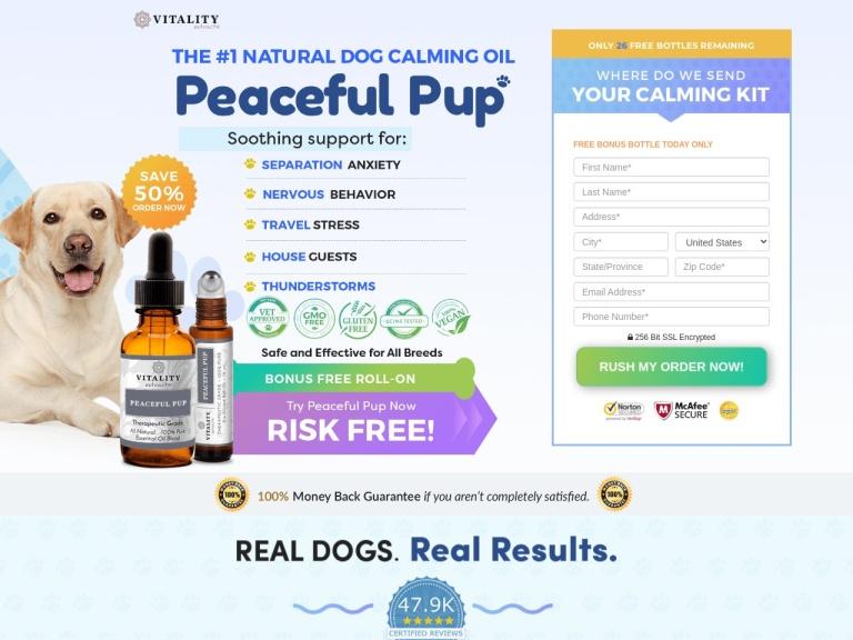 Peaceful Pup Oil screenshot
