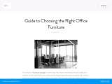 A Guide to Choosing the Best Office Furniture