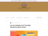 Can You Reliably Find The Right WordPress Blog Theme?