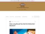 How Long Should You Visit On Online Slot Machine?
