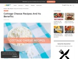 Cottage Cheese Recipes And Its Benefits