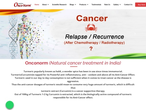 Natural cancer treatment in India