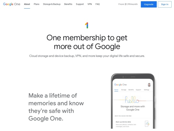 Google One  - Best Free Cloud Storage Services (2020)