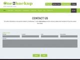 One2backup – Online Data Backup Software