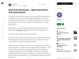 Shot's From Streetwear — Black Owned | New York Fashion Brand