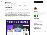 WordPress Blog Themes — What Are They Entirely About?