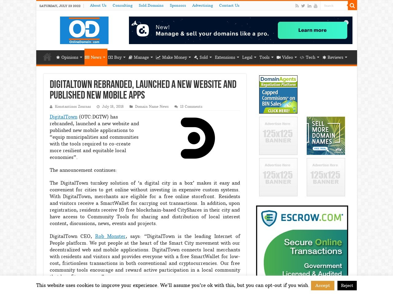 DigitalTown rebranded, launched a new website and published new mobile apps