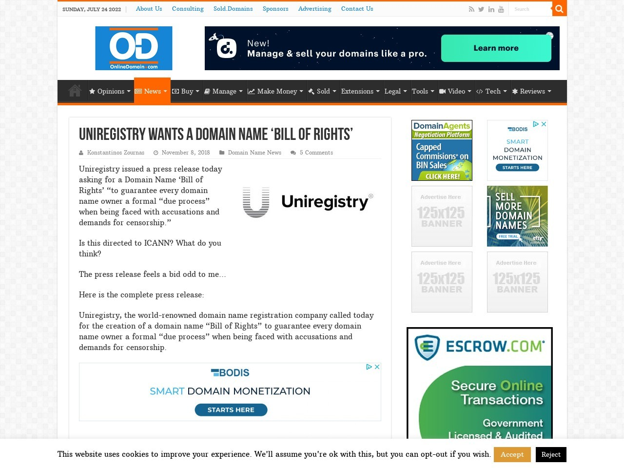 Uniregistry wants a domain name 'Bill of Rights'