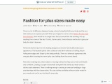 Fashion for Plus Sizes in India