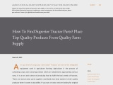 How To Find Superior Tractor Parts? Place Top Quality Products From Quality Farm Supply
