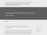 Everything You Should Know About Ford Tractor Parts