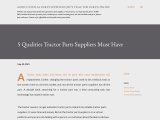 5 Qualities Tractor Parts Suppliers Must Have