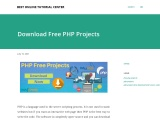 Download Free PHP Projects with source code