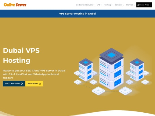 Dubai VPS Hosting – Onlive server SSD VPS Server Only $24