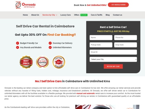 Self Drive Cars in Coimbatore | Cars for Rent in Coimbatore