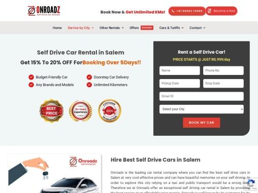 Self Driving Cars in Salem | Book Self Drive Cars for Rent in Salem