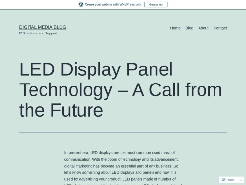 LED Display Panel Technology – A Call from the Future